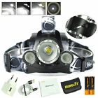 BORUiT 20000 Lumen Zoomable Headlamp XM-L 3x L2 LED Headlight 18650 Battery