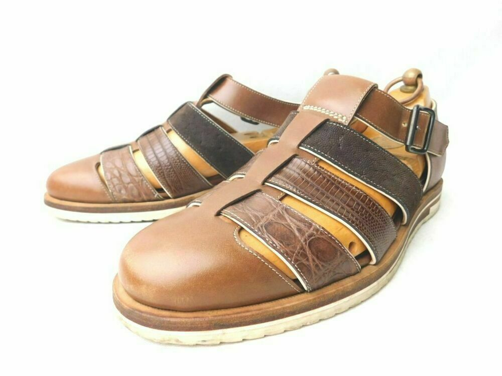 F.LLI Giacometti Leather shoes Gurhha Sandal Made in  Size 39 Men's