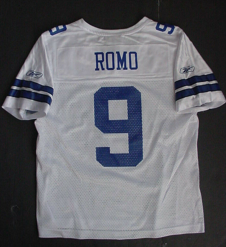 Nwt Reebok Tony Romo 9 Netz Weiß Trikot Dallas Cowboys Weiß Netz Blau Damen GRÖSSE S L ea9b07