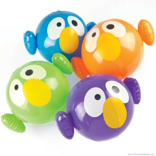 Blow Up Pool Party Favor Toy CRAZY EYE BIRD Shaped Inflatable Beach Balls 12