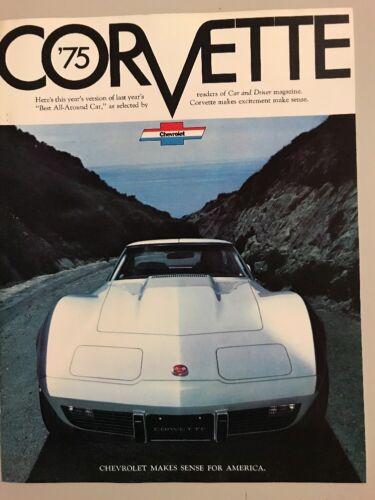 1975 CORVETTE brochure Free Shipping!