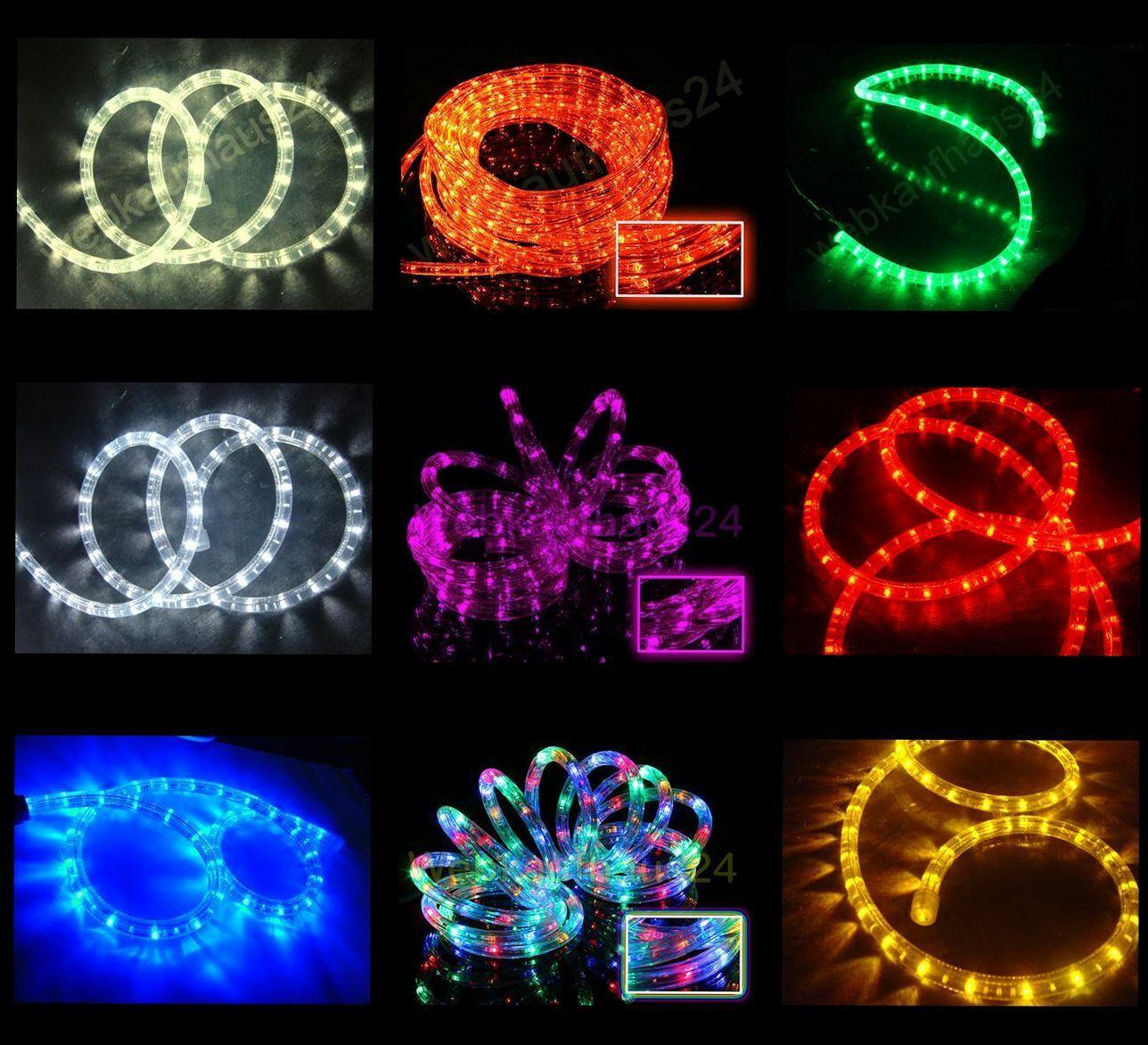 LED Lichterschlauch 50m Lichtschlauch rot gelb grün blau weiß bunt blau warmweiß