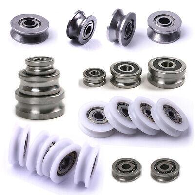 U / V Grooved Ball Bearings Metal Shield/ Nylon/ Pulley Wheels Wire Guide  Roller | eBay