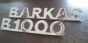 BARKAS + B1000 Schriftzug / Tür Emblem aus Alu mit Gewindebolzen ALTE AUSF. !!!