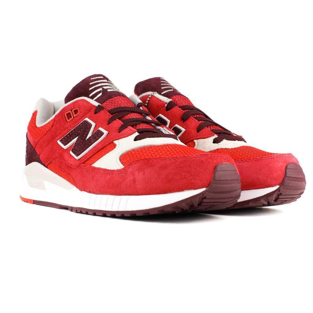 NIB NEW BALANCE 530 ELITE EDITION PAPER LIGHTS M530RAA RED CHOCOLATE OYSTER