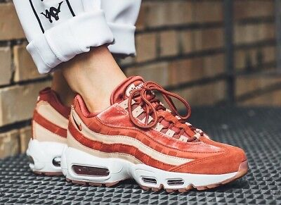 2018 New Nike Air Max 95 Women's Brown Red AA1103 201 [Max