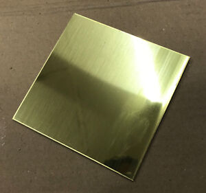 Quality Brass sheet 1.6mm thick 100mm x 100mm