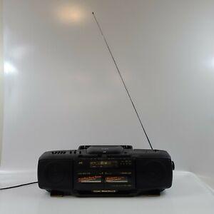 JVC RC-X510 BOOMBOX Cd Player Tape Cassette Radio Retro Vintage 1989 WORKING