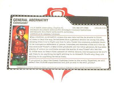 G I JOE File Card Filecard      2001 LeatherNeck V4