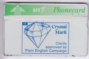 EUROPE-TELECARTE-PHONECARD-U-K-20U-L-amp-G-311D-BT-PRIVEE-CRYSTAL-MINT-NEUVE