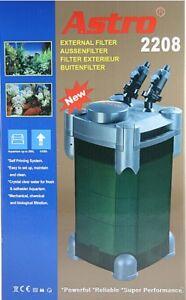 Filtre externe pour filtre d'aquarium Astro 2208 Incl. Matériau filtrant F. Aquarium Jusqu'à 200 L