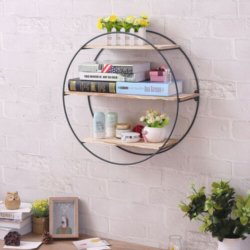 Iron Three-Layer Wall-Mounted Wall Shelf Storage Display Stand Home Decoration W