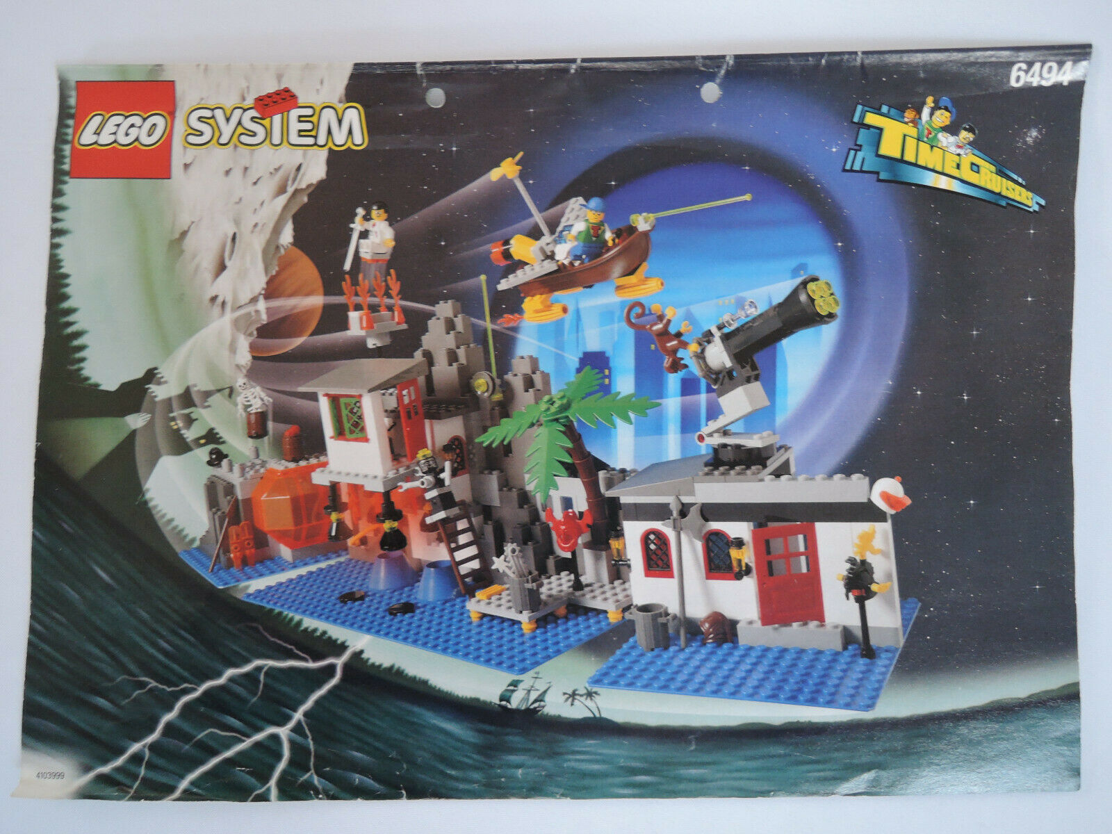 LEGO Time Cruisers 6494 Mystic Mountain Time Lab    kpl. + Anleitung  + Figuren