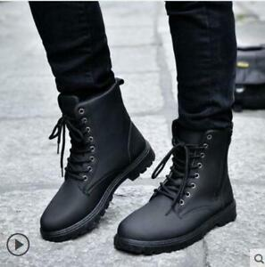 Details about Men\u0027s Retro high,top Combat boots Winter England style  fashionable short shoes