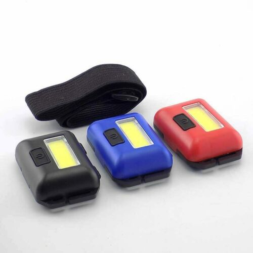 Mini COB LED Headlamp Headlight AAA Flashlight Head Torch light outdoor camping
