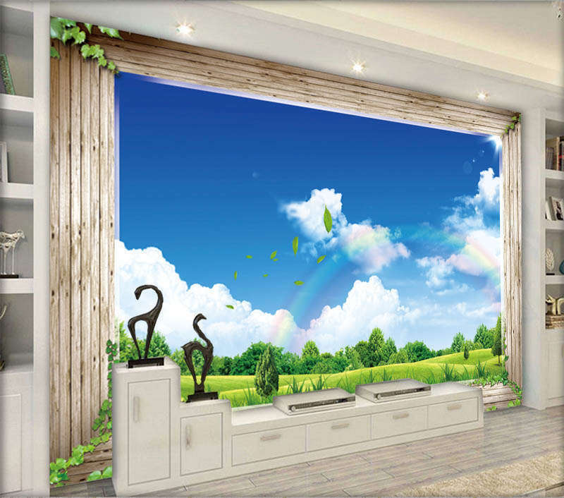 Minor Clear Blau Sky 3D Full Wall Mural Photo Wallpaper Printing Home Kids Decor