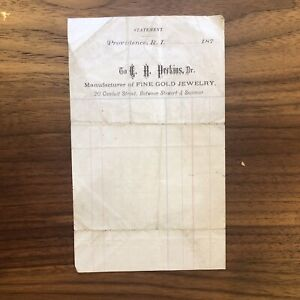 Antique-Old-187-Invoice-Paper-PROVIDENCE-R-I-Jewelers-Jewelry