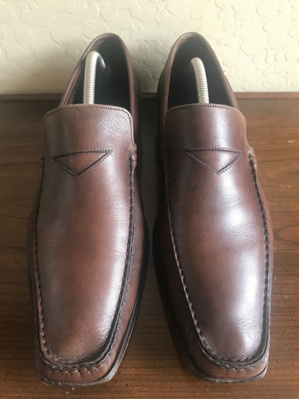 To Boot New York By Adam Derrick 9131 Men's Loafers Sz 11 Brown Leather Slip Ons