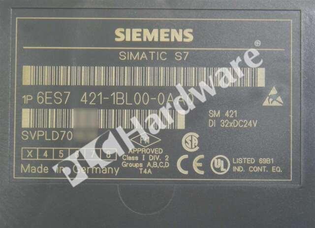 Siemens Simatic s7-400 6es7 421-1bl01-0aa0 //// 6es7421-1bl01-0aa0//versión 2