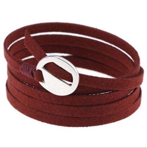 Unisexe Handmade multicouche bricolage Ficelle En Cuir Cuff Bracelet Bracelet Bracelet Hot