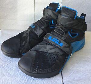 Nike-LeBron-Soldier-IX-9-Premium-Soar-Blue-Black-749490-014-Sz-13