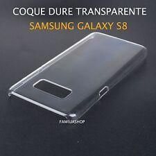 Housse étui pochette coque cristal dure rigide transparent samsung galaxy S8