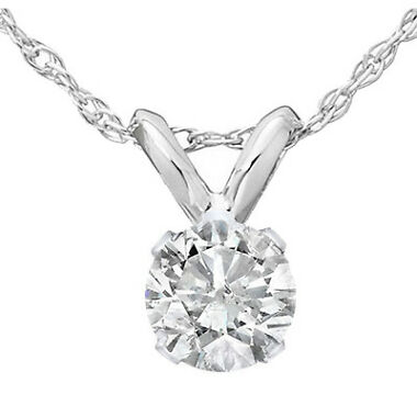0.35 Ct Solitaire Natural Diamond Pendant