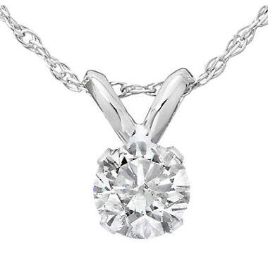 0.35 Ct Solitaire Natural Diamond Pendant