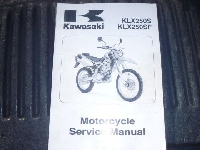 Oem 2009 Kawasaki Klx250s Klx250sf T9f Service Shop Repair