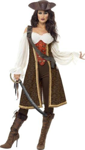 Braunes Seeräuber-Kostüm für Damen Cod.217474