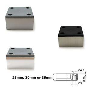 Piedini Per Divani.Dettagli Su Alluminio Piedi Piedini Per Armadio Divano In Cromo 25mm 35mm
