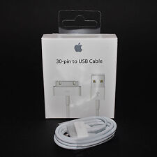 100% Original Apple iPhone 4 4S 3GS 3G 30-pin USB Ladekabel MA591FE/C ipod iPad