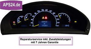 Mercedes-CL-W215-Beleuchtung-Totalausfall-Tacho-Kombiinstrument-Reparatur