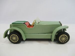 Japan-Tin-Litho-Friction-Car-Touring-Roadster-Convertible-1910s-Style-Green-Vtg