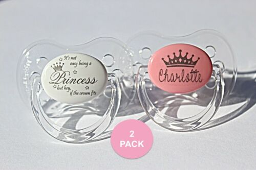 *CHERRY 2 PACK SYMMETRICAL /& ORTHODONTIC TEAT* ENGRAVED PERSONALISED DUMMIES