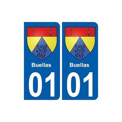 01 Buellas Ville Autocollant Plaque Sticker Arrondis Così Efficacemente Come Una Fata