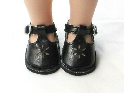 """**SALE** NAVY BLUE T-STRAPS DOLL SHOES fits American Girl 14.5/"""" WELLIE WISHERS"""