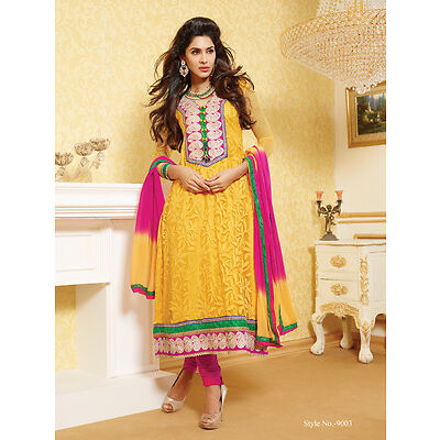 Dress Material Designer Georgette Brasso Semi stitched Suit Salwar suit