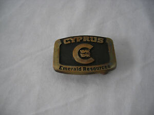 Cyprus Emerald Resources Belt Buckle Small Buckle