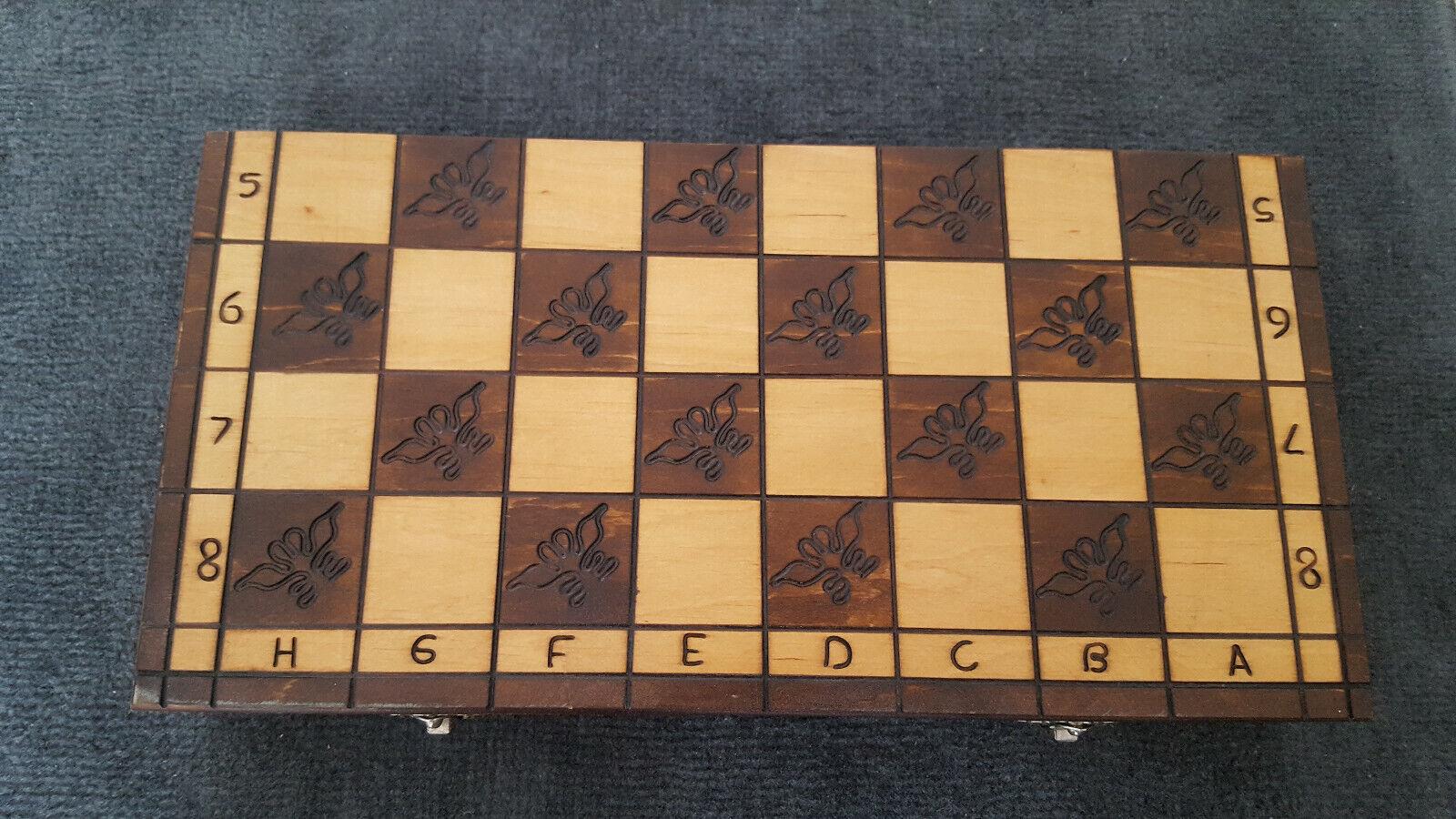Altes Schachspiel Schach Holz russischer Stil - Chess Russland