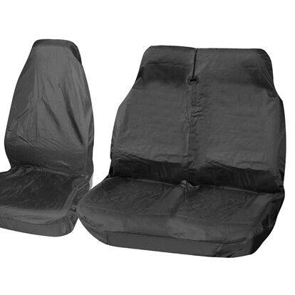 FORD TRANSIT 06-13 MK7 Black Van Seat Covers 2+1 LWB MWB SWB 100/% WATERPROOF