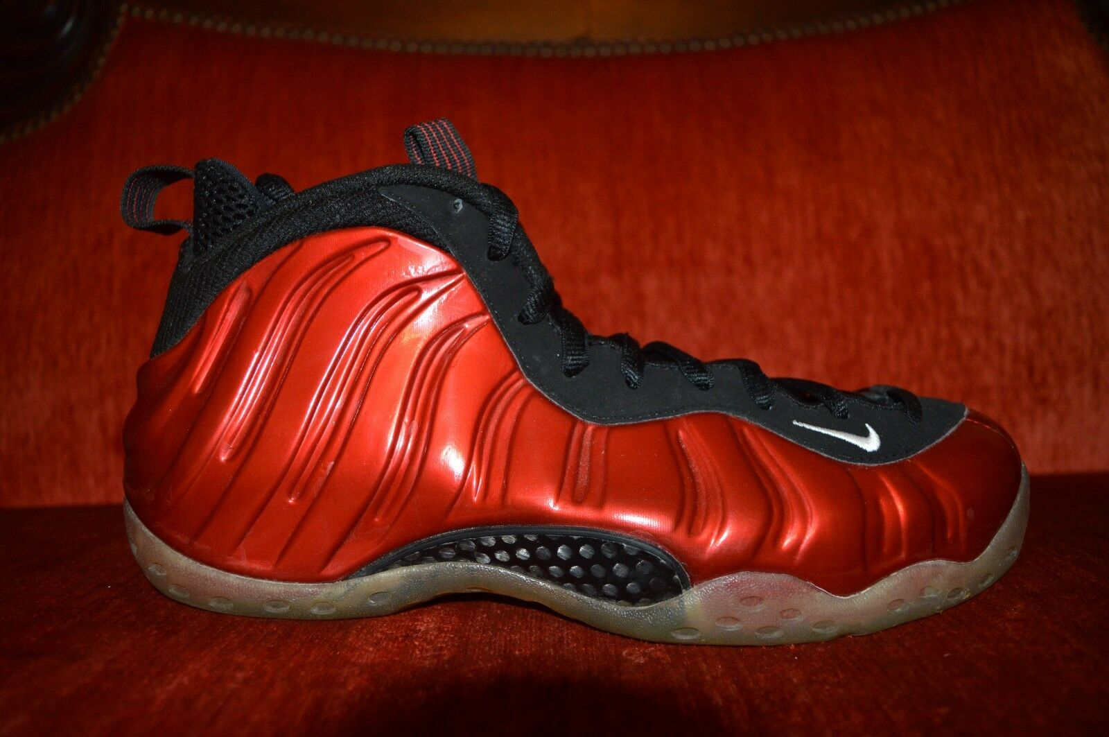 411c13339fa Nike Air Foamposite One Metallic Red Size 8.5 9  10 314996-610 for ...