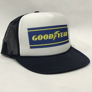e151b0f4794f9 Good Year Tires Promo Trucker Hat Vintage 80 s Mesh Back Snapback ...