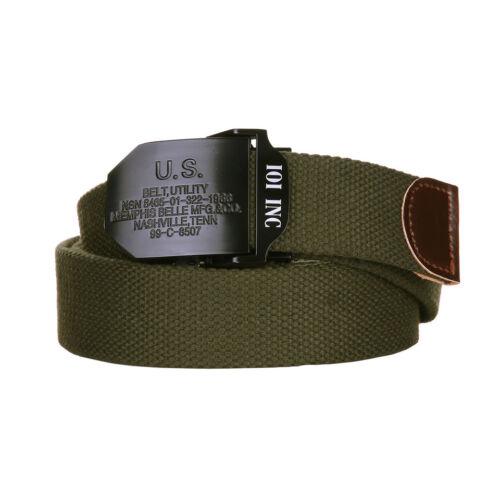 US ARMY U.S 130 cm 35 mm Belt Utility Memphis Belle Mfg Nashville Ceinture Buckle