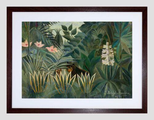 HENRI ROUSSEAU FRENCH EQUATORIAL JUNGLE BLACK FRAMED ART PRINT PICTURE B12X5265