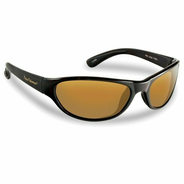 Flying Fisherman Key Largo Polarized Sunglasses Black Frames//Amber Lens 7865BA