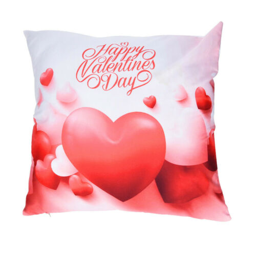 Valentine/'s Day Print Pillow Cases Polyester Sofa Car Cushion Cover Home Decor