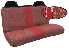 Classic Burgundy Red Saddle Blanket Truck Bench Seat Cover Optional Headrests