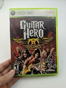 Guitar-Hero-Aerosmith-Microsoft-Xbox-360-2008-Complete-in-Box