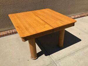 Antique-Oak-Console-Library-Table